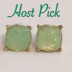Large Light Green Sparkle Stud Earrings ✨HP✨ Beautiful Large Gumdrop Sparkle Stud Earrings in a light Mint Green color with glitter set in the resin stones. Gives an iridescent look. Approximate size of a dime or penny. New. No Trades. ✨Note: All products are free from detectable defects by me unless otherwise stated in the description. All products are sold as is & without refunds or returns.✨ Boutique Jewelry Earrings