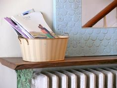 My Old Country House blog by my (NOT OLD!) high school pal Lesli--this radiator console is genius!