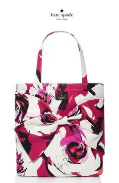 2b0aaebf40174 NWT Kate Spade ON PURPOSE Sweetheart Pink Floral Canvas Tote Handbag~  128