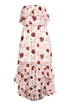 13cdb0877c Sukienka z odkrytymi ramionami - Naturalna biel Kwiaty - ONA