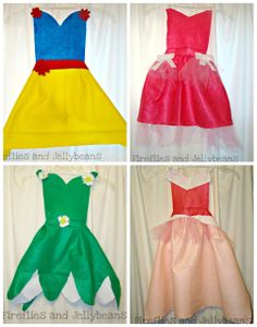 Princess Aprons! Christmas for the girls! - Dress ups that you don't out grow!!!!