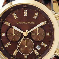 Michael Kors Women's MK5216 Chronograph Tortoise Watch: Watches: Amazon.com