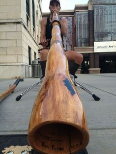 Didgeridoo outside AVL Art Museum. Photo by @gordondsmith