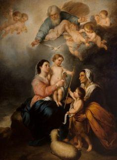 "Después de MURILLO, Bartolomé Esteban  (Sevilla, 1617 – 1682).""La Virgen de Sevilla"", primera mitad del siglo XIX."