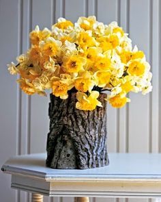 Veja e faça decoração floral em tronco de árvore | Artesanato na Prática