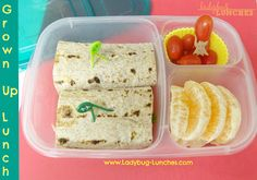 Ladybug Lunches, Grown Up Lunch, EasyLunchboxes, Creative Lunch, Fun lunch Easy Lunches For Kids, Kids Packed Lunch, Kids Lunch For School, Healthy School Lunches, Lunch To Go, Kids Meals, Cute Lunch Boxes, Bento Box Lunch, Lunch Snacks