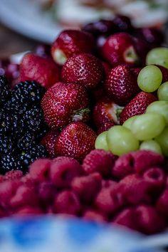 Black Berries, Strawberries, Raspberries, Green Grapes Oh My!!