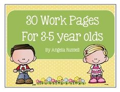 This unit provides you with 30 work pages thatare made in black and white. They are designed to help young children prepare for kindergarten.Some of the pages include:How many?Color the shapes.Circle the numbers.Write your name.Draw Today's Weather.Draw the shape.Color the tall / short one.Empty and full conceptColor the big / small one.Where do we wear it?Does it live on a farm?What is the child doing?What is the season?These work pages will allow you to doone page a day for six weeks.