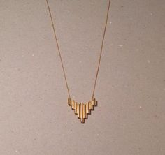 Made by Ella PIPE necklace, goldplated silver, www.facebook.com/madebyella