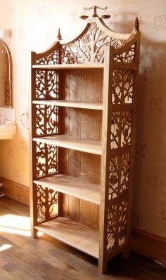 Carved Bookcase, so pretty!