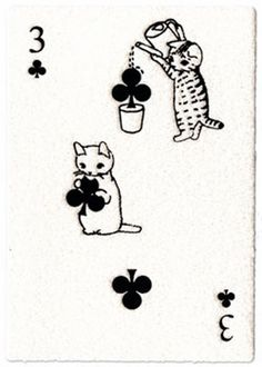Postcard with playing card motif - Pottering Cat Crazy Cat Lady, Crazy Cats, Illustrations, Illustration Art, Photo Chat, Cat Cards, Cat Drawing, Art Inspo, Art Reference