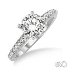 1/5 Ctw Diamond Semi-Mount Ring in Platinum
