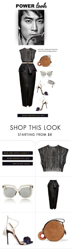 """""""Power look"""" by iriadna ❤ liked on Polyvore featuring Linda Farrow, Maticevski, Aquazzura, Carven, Gucci, WorkWear, summerstyle, pencilskirt and MyPowerLook"""