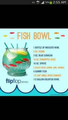 Fish Bowls! Great For Adult Parties <3