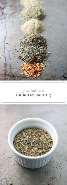 Add classic flavor to meatballs, spaghetti and more with this Low FODMAP Italian Seasoning recipe - no garlic or onion needed!   funwithoutfodmaps.com   #lowfodmap #saltfree #spiceblend #italianseasoning
