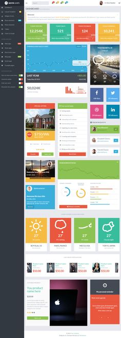 Responsive HTML5 Dashbords with Flat Design in 2014 #Bootstrap