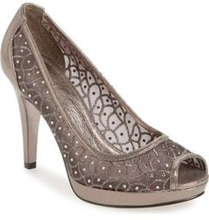 8000d05fb7 Adrianna Papell 'Foxy' Crystal Embellished Peeptoe Pump (Women) - winkling  crystals embellish