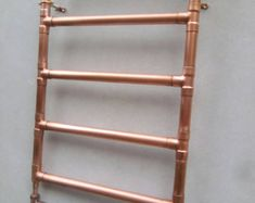 BowstreetcraftsCo on Etsy / Copper pipe towel heater Copper Pipe Taps, Brass Tap, Copper Shower Head, Towel Heater, Wall Mounted Taps, Pex Plumbing, Copper Ceiling, Towel Radiator, Industrial Style