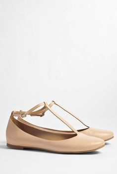 See by Chloé Shoes Neutral T-bar Ballet Flat