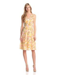 Pendleton Womens Petite Paradise Dress, Malibu Floral Print, 2 | Traveling Of Life
