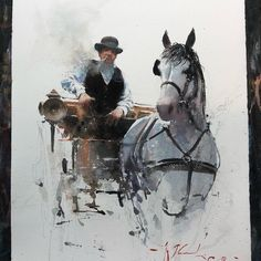 Amazing Drawings Gallery for upscale art and creativity Watercolor Horse, Watercolor Artists, Watercolor Animals, Watercolor Portraits, Watercolor Landscape, Artist Painting, Artist Art, Watercolor Illustration, Watercolor Paintings