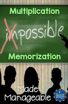 Multiplication Memorization Made Manageable Do you struggle with helping students memorize their multiplication facts? Here are some awesome ways to make it manageable for your classroom. Math For Kids, Fun Math, Math 8, Kids Fun, Math Resources, Math Activities, Division Activities, Math Multiplication, Math Intervention
