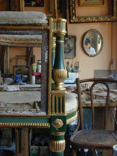 Chaise Directoire|Atelier du Grand Monarque – Dorures et restauration de bois dorés à Lyon Croix-Rousse -