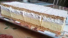 Lahodné medové řezy FOTOPOSTUP   NejRecept.cz German Baking, Diy Food, Vanilla Cake, Cheesecakes, Favors, Food And Drink, Snacks, Sweet Stuff, Joy