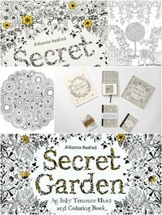 This beautiful and interactive coloring book features delicate and highly detailed pen-and-ink illustrations—all waiting to be brought to life with color. As added entertainment, tiny garden creatures are hidden on the pages, waiting to be found, and a key and index are included in the back. The book's cover and jacket are also colorable. #coloring #adult #books #secret #garden