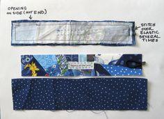 Leslie's Art and Sew: Scrappy Fabric Bracelet Tutorial - with elastic loop