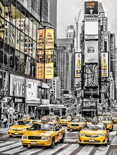 """Yellow Times Square"" by Giscard Matar New York Drawing, Square Drawing, Times Square, Ios Wallpapers, Usa Tumblr, New York Art, City Aesthetic, Urban Sketchers, City Art"