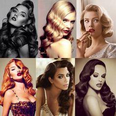 Salut les filles!  Les pins up sont le symbole de la féminité, du sexy et du glamour, on aimerait toutes leur ressembler. Pour cela, on peut déjà s'inspirer de leurs coiffure toutes plus belles les unes …