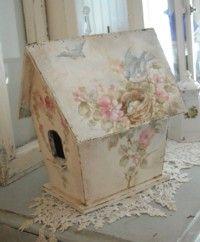 Shabby Vintage Style Birdhouse
