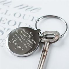 Dad Wedding Keyring