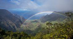 Rainbow Over Na Pali Coast
