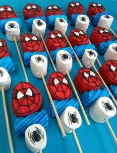 Spiderman Birthday Cake, Spiderman Theme, Avengers Birthday, 3rd Birthday Parties, Boy Birthday, Girl Superhero Party, Marshmallow Pops, Party Treats, Cakepops