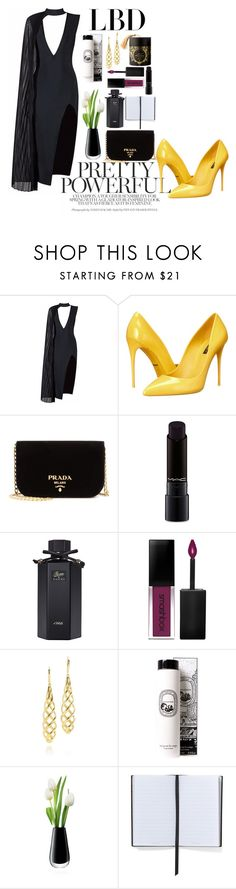 """""""Untitled #126"""" by emelie-mely on Polyvore featuring Posh Girl, Dolce&Gabbana, Prada, MAC Cosmetics, Gucci, Smashbox, Diptyque, LSA International and Smythson"""