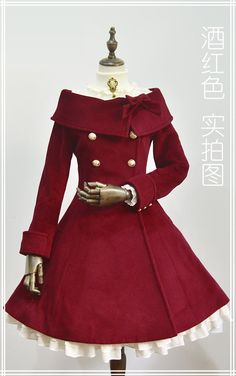 UPDATE: 【-Winter Princess-】 Lolita wool coats 【In Wine Color】 Have been refilled! - UPDATE: 【-Winter Princess-】 Lolita wool coats 【In Wine Color】 Have been refilled! Kawaii Fashion, Lolita Fashion, Cute Fashion, Trendy Fashion, Fashion Women, Fashion Ideas, Dress Outfits, Cool Outfits, Fashion Dresses