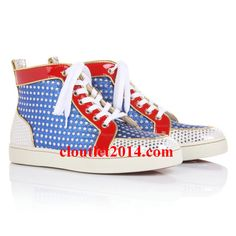 Christian Louboutin Superball High Top Sneakers Multicolor Women