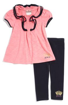 263f8ae28 Juicy Couture Ruffle Tunic & Leggings Set (Infant)   Nordstrom. Toddler  ShoesToddler Girl OutfitsBoy ...