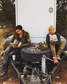 Katherine McNamara and Rosa Salazar reading time