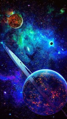 galaxies and planets Wallpaper Earth, Planets Wallpaper, Wallpaper Space, Galaxy Planets, Galaxy Art, Galaxy Space, Planets In The Sky, Dark Galaxy, Space Planets