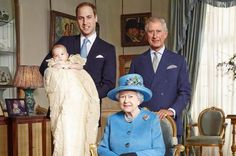 Duke of Cambridge, Prince George, Prince Charles, and the queen
