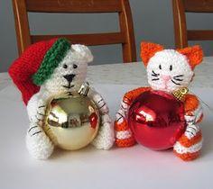 Free Crochet cat and bear