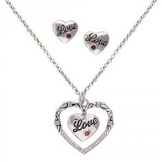 A Cowgirl's Heart of Love Jewelry Set (JS1475)