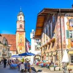 Church in Mittenwald, Germany jigsaw puzzle Mittenwald Germany, German Village, Puzzle Of The Day, Ski Touring, Jigsaw Puzzles, Street View, Building, Places, Travel