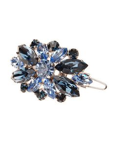 L. ERICKSON Countess Crystal Barrette w/Tige Boule Blue $160 (Compare Elsewhere $180) SHIPS FREE BEST PRICES YOU WILL FIND ANYWHERE ON GENUINE LADIES DESIGNER BRANDS! FREE WORLD SHIPPING & LOCAL DELIVERY AVAILABLE AT THE SURF CITY SHOP in Huntington Beach, California Major Credit Cards Accepted