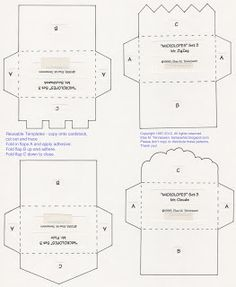 elses bellas artes free mini envelope templates for you download the pdf from
