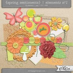{Spring Sentiments} Elements No1 | A Little Giggle Designs