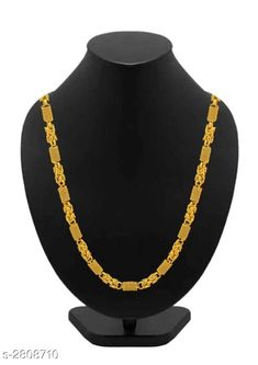 Checkout this latest Chains Product Name: *Stylish Men's Golden Alloy Chain* Plating: Gold Plated Type: Chain Multipack: 1 Country of Origin: India Easy Returns Available In Case Of Any Issue   Catalog Rating: ★4.1 (1550)  Catalog Name: Chic Trendy Alloy Men's Chains Vol 8 CatalogID_381309 C65-SC1227 Code: 702-2808710-393